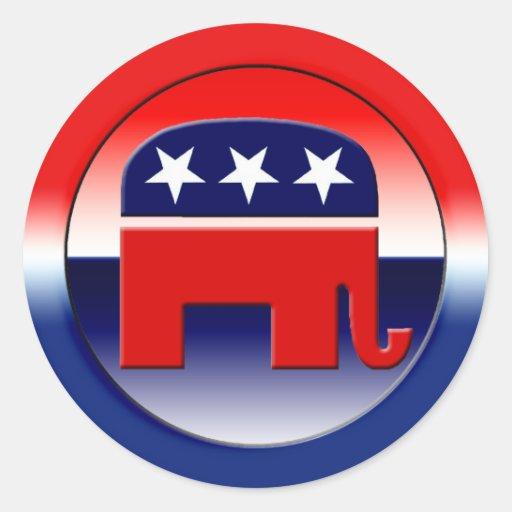Símbolo del Partido Republicano Etiqueta Redonda