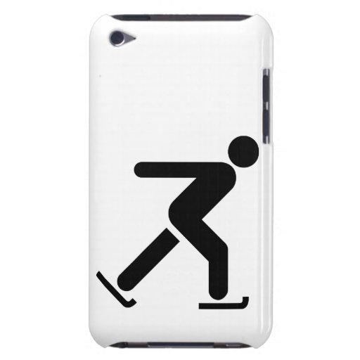 Símbolo del patinaje de hielo barely there iPod cárcasa