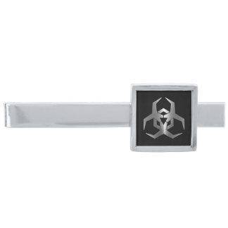 Símbolo del peligro de Malware Alfiler De Corbata Plateado