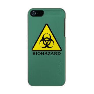 Símbolo del peligro tóxico carcasa de iphone 5 incipio feather shine