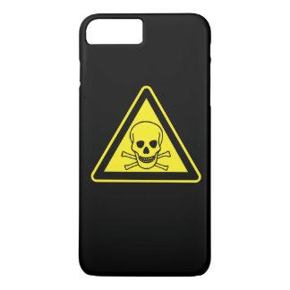 Símbolo del peligro tóxico funda iPhone 7 plus