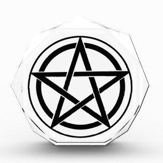 Símbolo del Pentagram - estrella Cinco-Acentuada