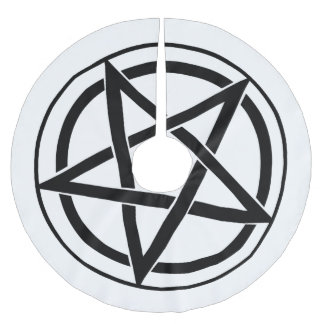 Símbolo del Pentagram - estrella Cinco-Acentuada Falda Para Arbol De Navidad De Poliéster