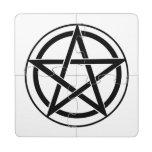 Símbolo del Pentagram - estrella Cinco-Acentuada Posavasos De Puzzle