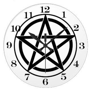 Símbolo del Pentagram - estrella Cinco-Acentuada Relojes