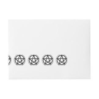 Símbolo del Pentagram - estrella Cinco-Acentuada Etiquetas Envolventes De Dirección