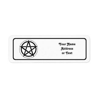 Símbolo del Pentagram Etiqueta De Remitente