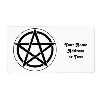 Símbolo del Pentagram Etiqueta De Envío