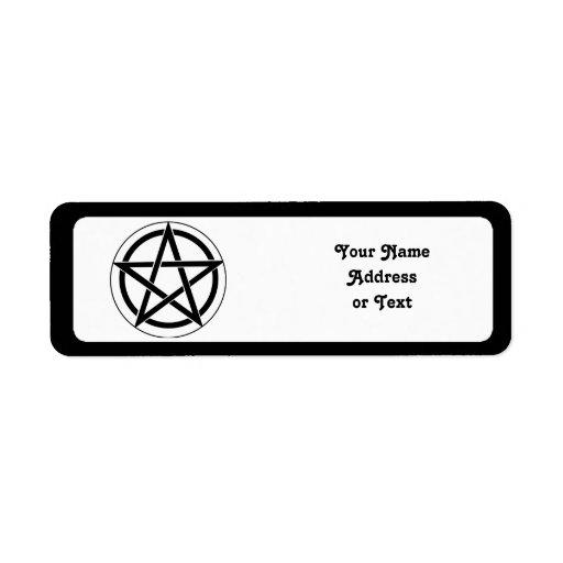 Símbolo del Pentagram Etiqueta De Remite