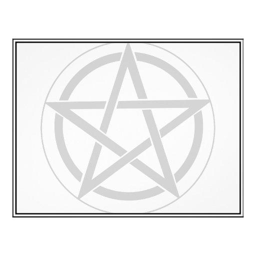 "Símbolo del Pentagram Folleto 8.5"" X 11"""