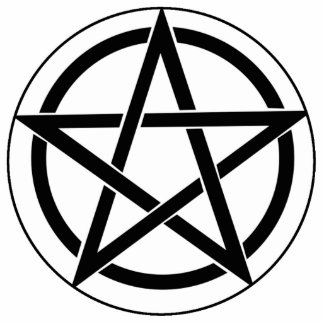 Símbolo del Pentagram Fotoescultura Vertical