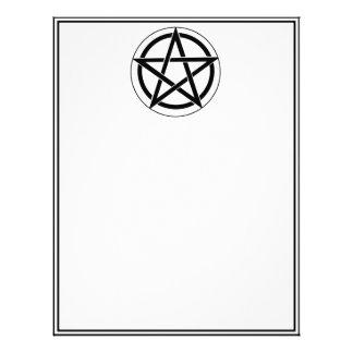 Símbolo del Pentagram Membrete A Diseño