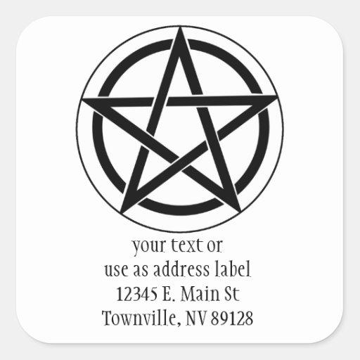 Símbolo del Pentagram Calcomanía Cuadradas Personalizada