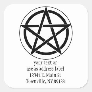 Símbolo del Pentagram Pegatina Cuadrada