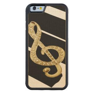 Símbolo del personal de la música funda de iPhone 6 bumper arce