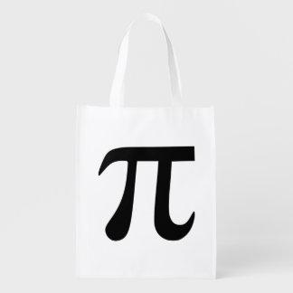 Símbolo del pi bolsas de la compra