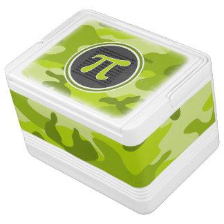 Símbolo del pi; camo verde claro, camuflaje neverita igloo