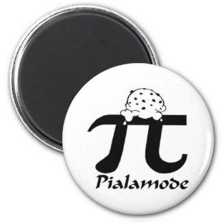 Símbolo del pi imán redondo 5 cm