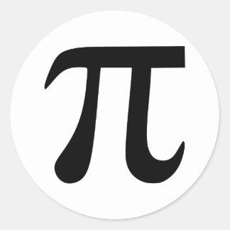 Símbolo del pi pegatina redonda