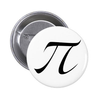 Símbolo del pi pin redondo de 2 pulgadas