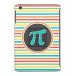 Símbolo del pi, rayas brillantes del arco iris funda de iPad mini