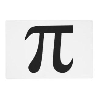 Símbolo del pi tapete individual
