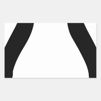 símbolo del pingüino del tux del linux pegatina rectangular