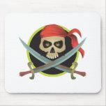Símbolo del pirata alfombrilla de ratón