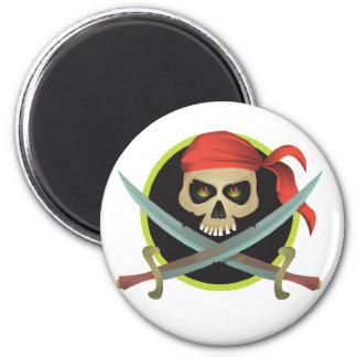 Símbolo del pirata iman de frigorífico