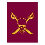 Símbolo del pirata tarjeta postal