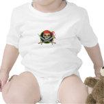 Símbolo del pirata trajes de bebé