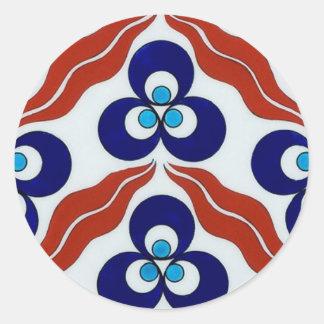 Símbolo del poder/Chin-teh-mA-nee Pegatina Redonda