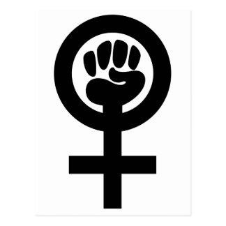 Símbolo del poder de las mujeres tarjeta postal