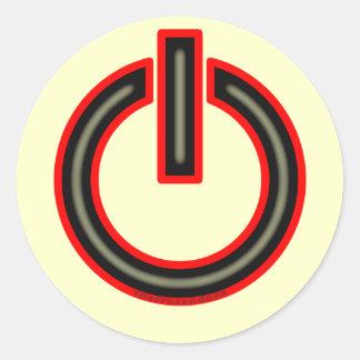 Símbolo del poder pegatina redonda