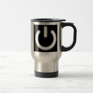 Símbolo del poder taza de viaje de acero inoxidable