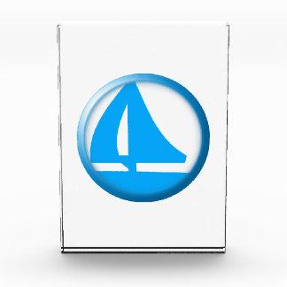 Símbolo del puerto deportivo - velero