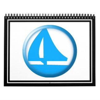 Símbolo del puerto deportivo - velero calendario