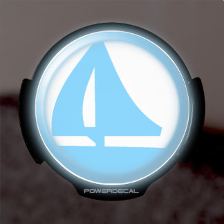 Símbolo del puerto deportivo - velero pegatina LED para ventana