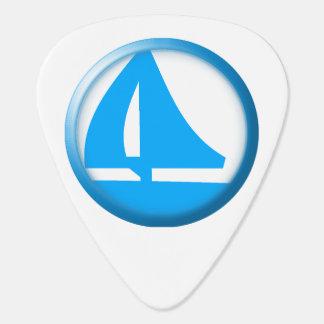 Símbolo del puerto deportivo - velero púa de guitarra