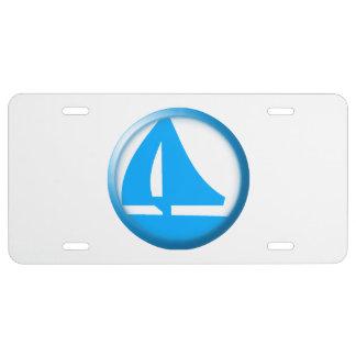 Símbolo del puerto deportivo - velero placa de matrícula