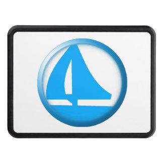 Símbolo del puerto deportivo - velero tapa de tráiler