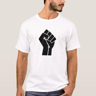 Símbolo del puño aumentado/del poder negro playera