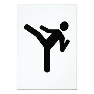 Símbolo del retroceso de los artes marciales invitación 8,9 x 12,7 cm