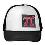 Símbolo del rojo carmesí pi gorras de camionero