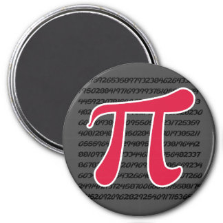 Símbolo del rojo carmesí pi imán de frigorífico