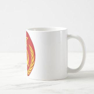 símbolo del ruso del comunismo taza de café
