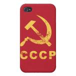 Símbolo del ruso del vintage iPhone 4 funda