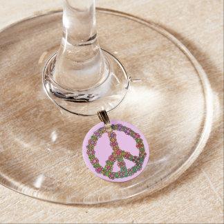 Símbolo del signo de la paz de la flor floral identificador de copa