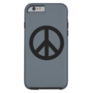 Símbolo del signo de la paz funda resistente iPhone 6