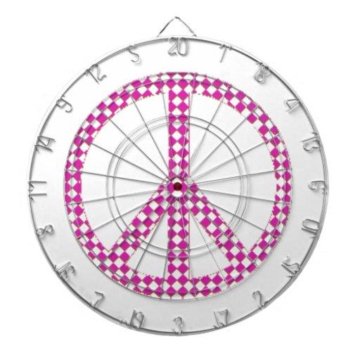 Símbolo del signo de la paz tablero de dardos
